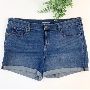 Old Navy Dark Wash Rolled Hem Denim Shorts